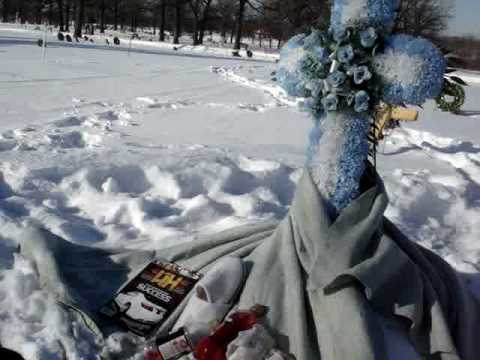Guy visits his friend's grave. This is what friendship sounds like.