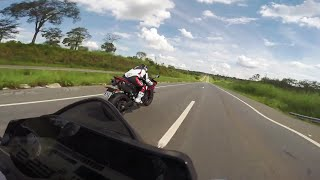 9. Yamaha MT-09 vs Yamaha R1 Top Speed 256 km/h Brasil