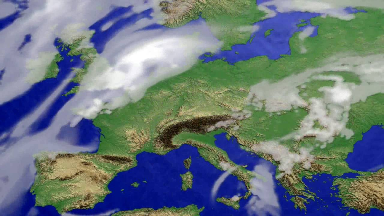 Cloud forecast Europe 2016-06-19