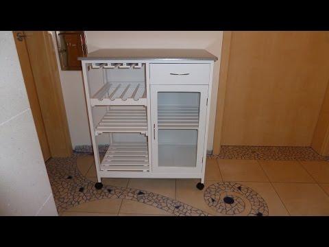 Aufbau Küchenwagen von Relaxdays