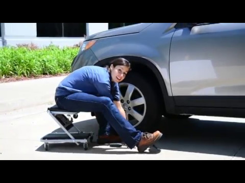 """36/"""" Z-Creeper Seat Pro Lift 2 in 1 creeper that is designed to be folded in a /""""Z"""