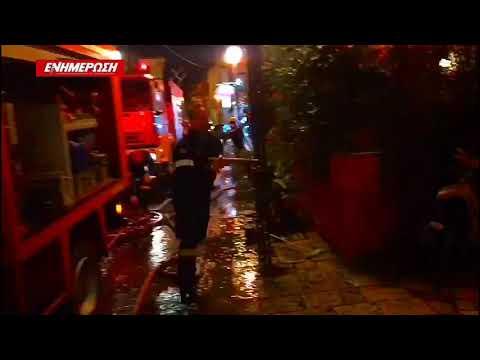 "Video - Γλίτωσαν από ""θαύμα"" από το φλεγόμενο κτίριο στην Κέρκυρα"