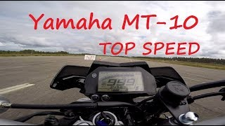 6. Yamaha MT 10 TOP SPEED