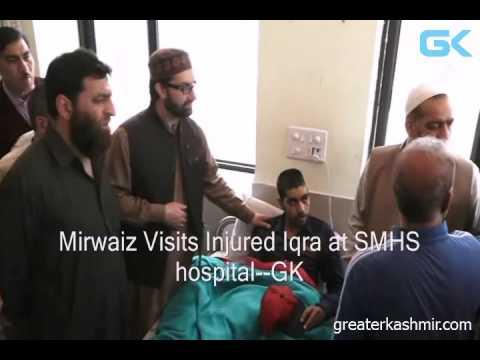 Mirwaiz Visits Injured Iqra at SMHS hospital
