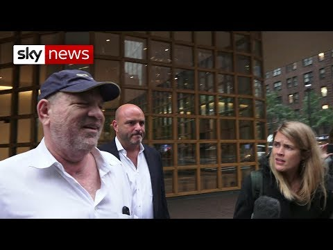 Smirking Harvey Weinstein dodges Sky News questions