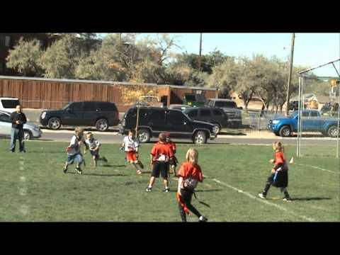 7 year old Brennan Rigsby 2010 Football Highlights part 2, 6-8 flag football