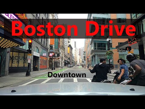 Boston Drive: Downtown, Tunnel and Chinatown видео