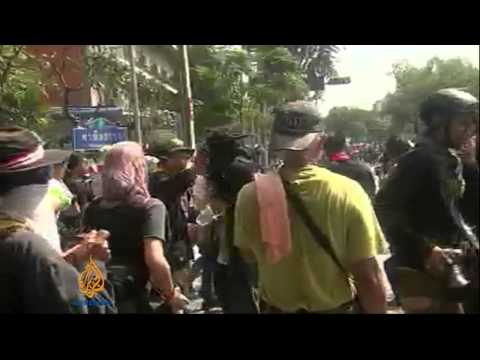 amid - Tension continues to rise in Thailand's capital Bangkok after the dispersal of red-shirted government supporters following deadly clashes with opposition dem...