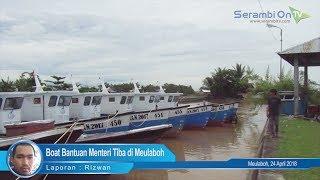 Boat Bantuan Menteri Tiba di Meulaboh