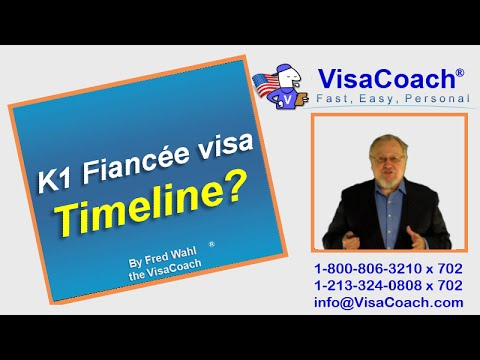 How long does the K1 Fiancee visa process take? FAQ#08