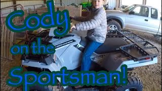 10. CODY TESTING THE NEW POLARIS SPORTSMAN 450���