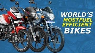 10 HIGHEST Fuel Efficient Bike In India
