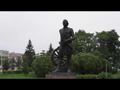 Petr Pervyj s kolesom ot telegi