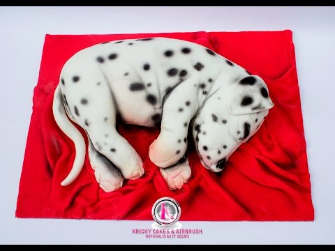 Kricky Cakes Decoration: Realistic Dalmata Dog Cake Tutorial 720p