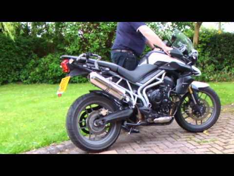Triumph Tiger 800 with an MTC slip on exhaust