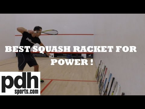 Which squash racket is best for power 2014 2015? New speed test by PDHSports.com