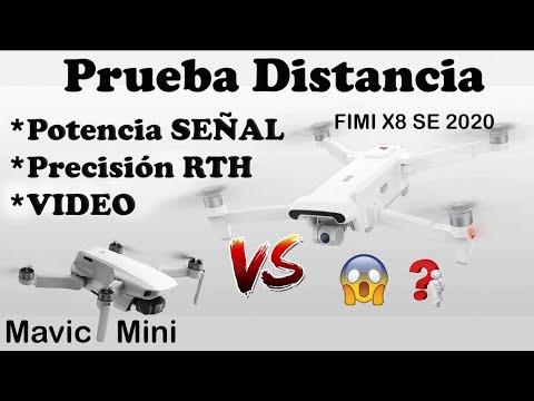 MAVIC MINI VS FIMI X8 SE 2020 - DISTANCIA -POTENCIA DE TRANSMISIÓN- RTH Y VÍDEO en ESPAÑOL