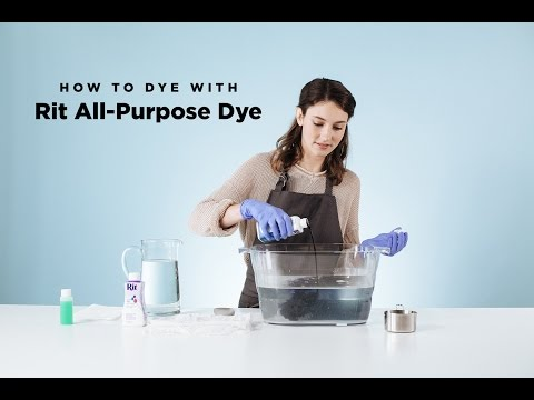 How to Dye with Rit All-Purpose Liquid Dye