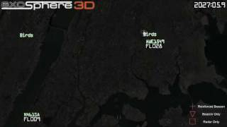 Detail View: Birds on Radar intersecting Flight 1549