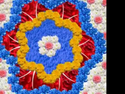 Rangoli Designs with Flowers - Floral Rangoli Patterns