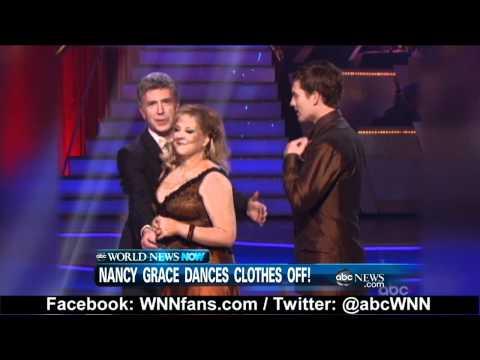 Nancy Grace Wardrobe Malfunction on Dancing With The Stars 2011