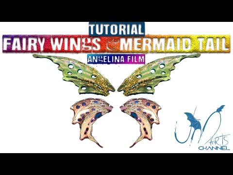 How To Do Fairy Wings - With Angelina Film Fantasy - Tutorial Diy