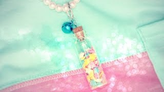 DIY fairy dust necklace (or sprinkles) - YouTube