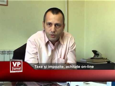 Taxele şi impozitele se pot achita on-line