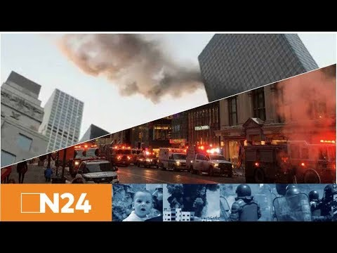 Wolkenkratzerbrand: Feuer im New Yorker Trump Tower ...
