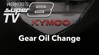 4. Gear Oil change on a 2013 Kymco Super8 150