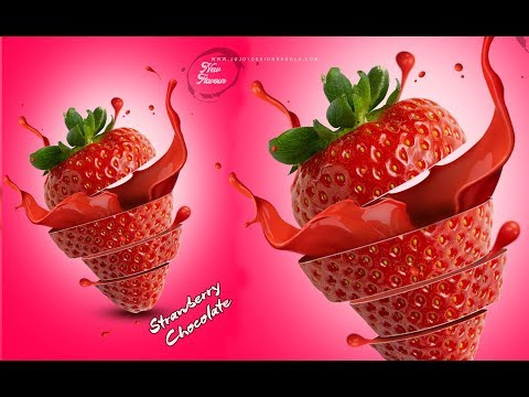 Photoshop | Poster Design Strawberry Flavor | Ju Joy Design Bangla