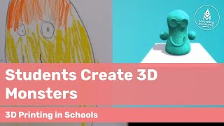 How Allendale Primary School students turn 2D drawings into 3D printed monsters