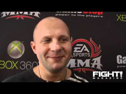 Fedor likes Playing as Himself in EA MMA Sports