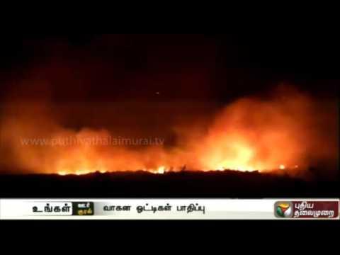 Corporation-dumpyard-catches-fire-in-Vaniyambadi-Vellore
