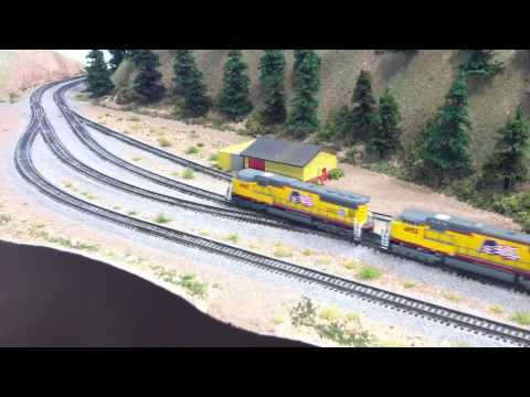z scale model train layout - My under construction Union Pacific's Donner Pass Z scale layout The area that I am modeling is from Norden to Truckee it's a twice around track plan that ha...