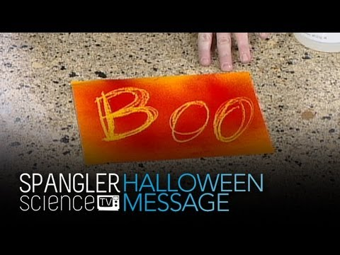 Spooky Halloween Nachricht - Cool Science Experiment
