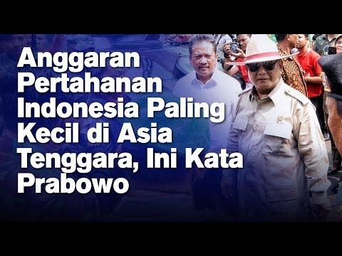 Anggaran Pertahanan Indonesia Paling Kecil di Asia Tenggara, Ini Kata Prabowo