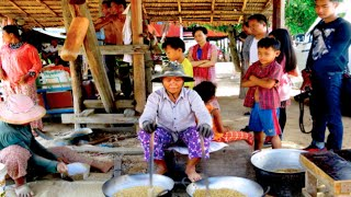 Kampong Thom Cambodia  city photo : Making Ambok at Kampong Thom province | Street Food in Cambodia