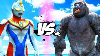 Video KING KONG VS ULTRAMAN (DYNA) - EPIC BATTLE MP3, 3GP, MP4, WEBM, AVI, FLV November 2018