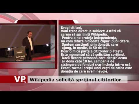 Wikipedia solicită sprijinul cititorilor