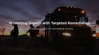 "John Marshall Mid-High Enterprise School was once considered a ""failing school"" by many. But educators at the Oklahoma City school are transforming the student experience through a standards-based approach, mastery learning, and a growth mindset. Watch their story to see how they promote student success by focusing on each student's individual needs and celebrating accomplishments together."