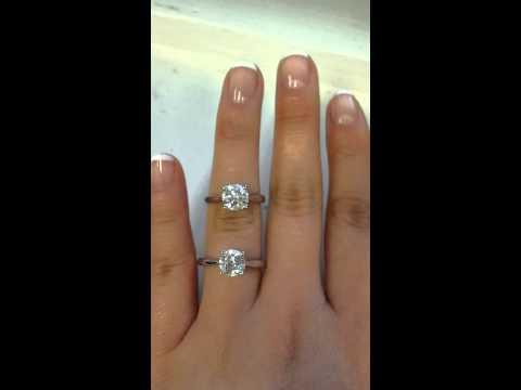 Diamond Versus FB moissanite Same Style Ring