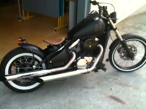 kawasaki vn800 bobber videos custom. Black Bedroom Furniture Sets. Home Design Ideas