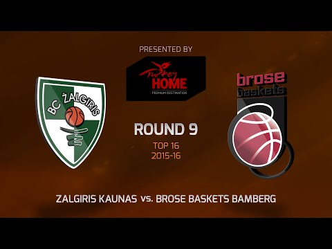 Highlights: Top 16, Round 9, Zalgiris Kaunas 75-73 Brose Baskets Bamberg