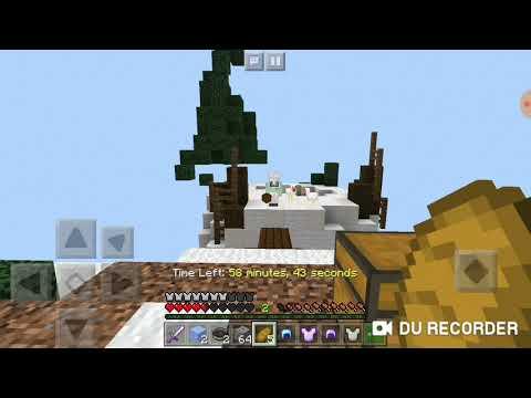 Kolay! / Minecraft Pe Server : SkyWars \ ( Bölüm 1 )
