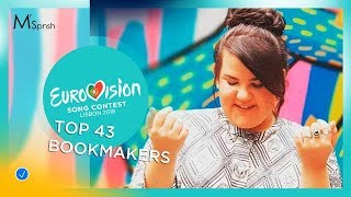 Video Eurovision Song Contest 2018. Bookmakers (odds) top 43 before rehearsals (17/03/2018) MP3, 3GP, MP4, WEBM, AVI, FLV Juni 2018
