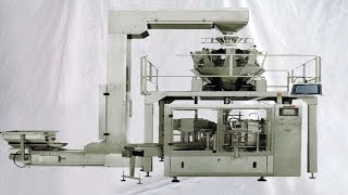 The equipment is mainly applied to the bagging of large granules like radix isatidis infusion, coffee, cereals, granulars infusion for influenza, etc. automatically count packaging. Through the quantity of the pouches to the rotary packing machine, and the rotary packing machine will do filling, sealing and output packages.Model YX-08-2500G bags given packing machine multiheads scale weigher feeding filling sealing packaging 給袋式米粉包裝機:Model YX-08-2500GWorking Station EightFunction Giving bagcodingopeningfilling1filling2heat sealing1heat sealing2forming and output productSize of bag W:80~200mm L:100-300mmFilling scope 5-2500gSpeed 35-60bags/min (The speed depends on the product status and filling weight)Package accuracy Error≤±1Total power 3.6KwDimension 1645mm*1450mm*1450mmWeight 1200KGScope of application candy, peanut, green bean, pistachio, crystal candy, sugar, cookie, cake, snack,dailycommodities, cooked food, pickles, puffed food, pet food, etcA complete set of equipments with high degree of automation. So that it could have you to save the labour and improve the production So that it could help you to save the lavour and improve the production.Features of bags-given packing machine with multihead weigher►Fully automatic. Clip the bag, open the bag, fill the bag. Sealing and output the packages.►Easy to operate. The machine adopts Imported PLC control,  and human-machine interface with touch screen control system.►Frequency control system. Adopts Frequency Controller, the operator can regulate the packaging speed.►Automatic detection. If the bag is not opened or not opened completely, there will be no feeding and no sealing, so that the pouch can be reused. In this way, you can avoid wasting materials, and reduce production costs. ►Stainless steel. Main parts of the machine are made with Stainless steel, so that the machine can meet food hygiene standard, and get a longer service life.►Good sealing quality and very low bag broken rate.   ►Packaging a wide range