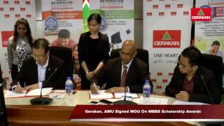 20161117 Gerakan, AMU Signed MOU On MBBS Scholarship Awards