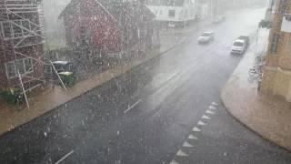 Odense Denmark  city images : Heavy rain in Odense, Denmark (25th july 2016)