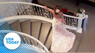 Toilet paper wedding dress will leave you speechless